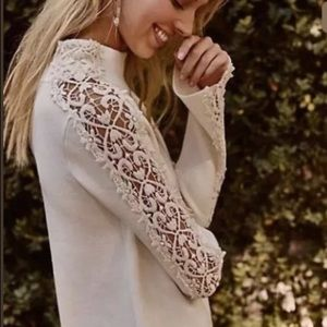 Knitted & Knotted Anthro Ivory Cashmere Sweater